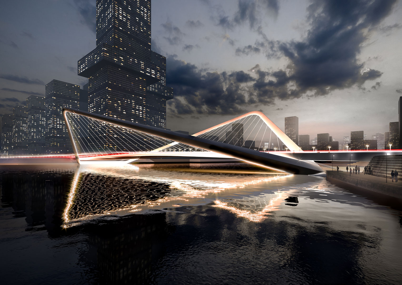 Visualization Hangzhou Bridges Night