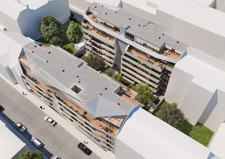 Visualization Kendlerstrasse Aerial