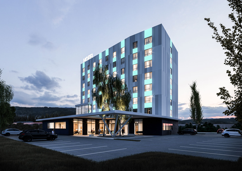 Visualization Hotel Lenzing Night